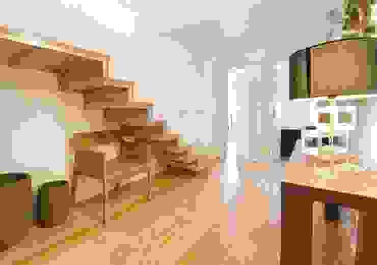 3 A . Rua do Norte n.º28 Corredores, halls e escadas modernos por Pedro Ferro Alpalhão Arquitecto Moderno