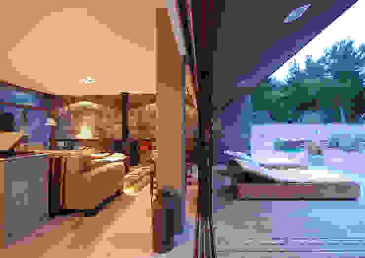 Casas de Playa – El Patio - Pasillos, vestíbulos y escaleras modernos de LUCAS MC LEAN ARQUITECTO Moderno