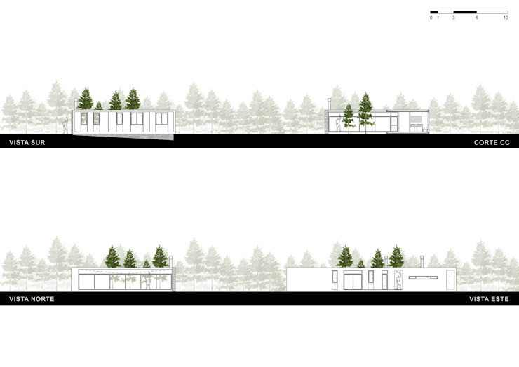 Casas de Playa – El Patio - de LUCAS MC LEAN ARQUITECTO Moderno