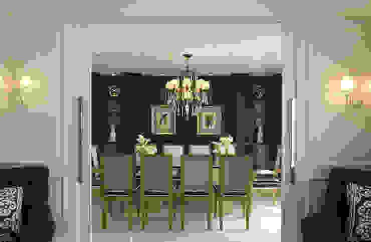 projetos Rodrigues Moran Arquitetura e Design Salas de jantar clássicas