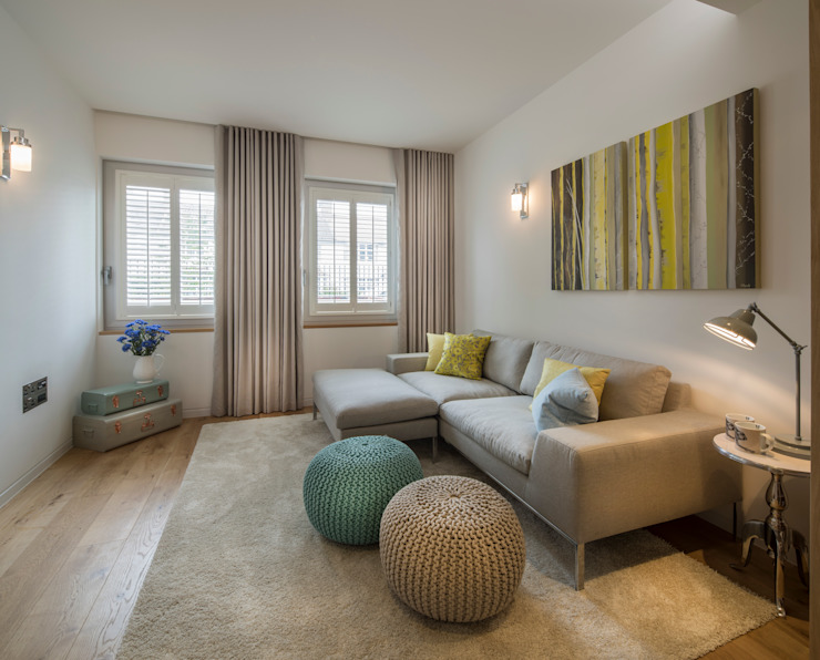 Argyll Place - Snug Modern media room by Jigsaw Interior Architecture Modern