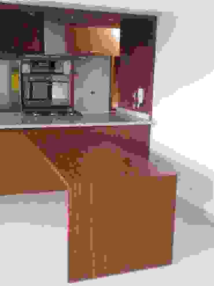 Cocina Le Ermitage Cocinas de estilo moderno de Forma y Espacio Arquitectos Constructores CA Moderno Derivados de madera Transparente