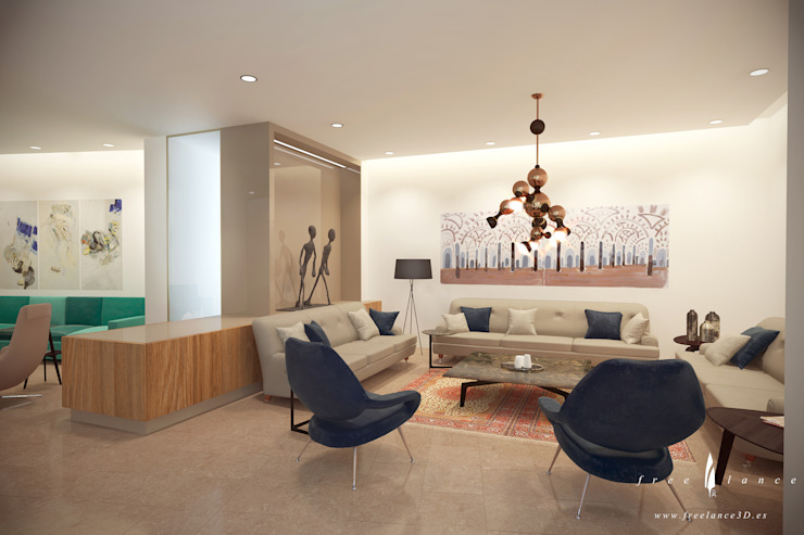 Living room by Freelance3d, Modern