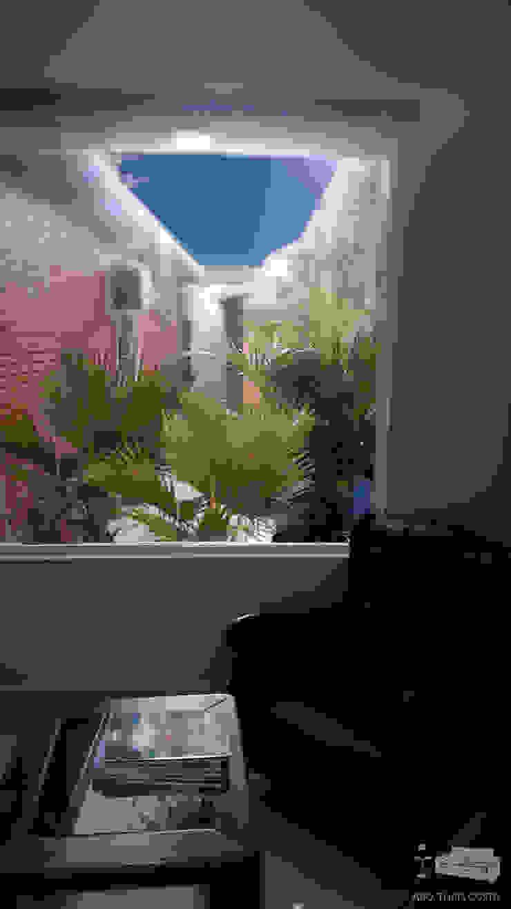 PAISAGISMO Salas de estar rústicas por THACO. Arquitetura e Ambientes Rústico