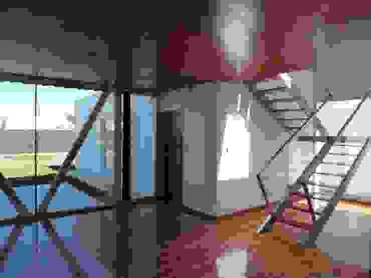 CASA DEL BOSQUE - Autores: Mauricio Morra Arq., Diego Figueroa Arq. Pasillos, vestíbulos y escaleras modernos de Mauricio Morra Arquitectos Moderno