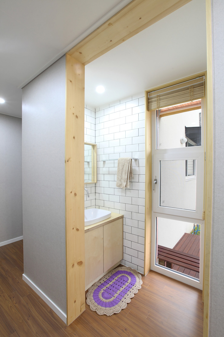 건식세면대 모던스타일 욕실 by 주택설계전문 디자인그룹 홈스타일토토 모던