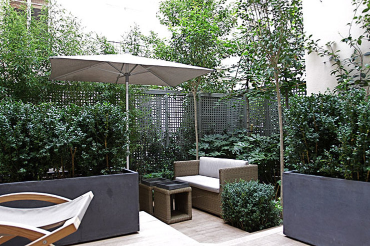 Réaménagement d'un Appartement Parisien Jardin d'hiver asiatique par Agence Inside DECO Asiatique