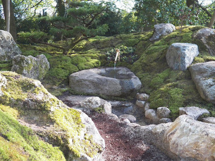Jardines de estilo asiático de Kokeniwa Japanische Gartengestaltung Asiático