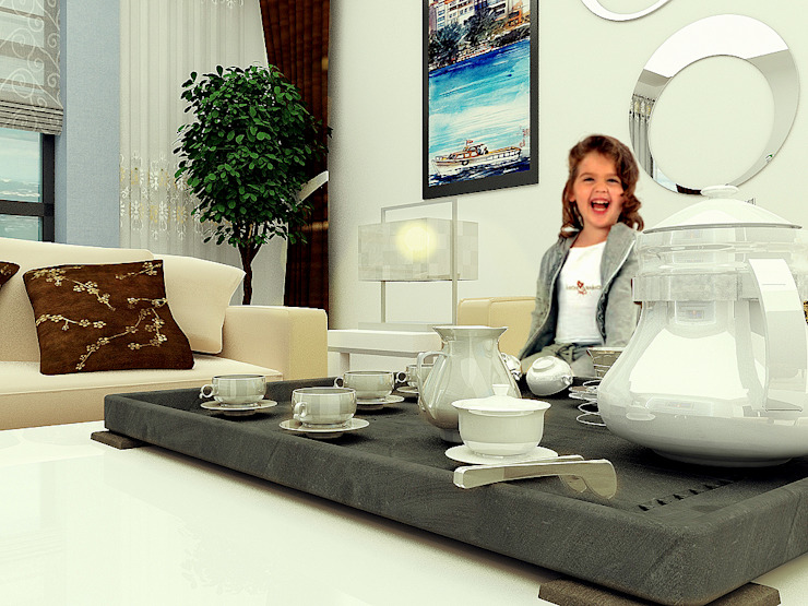 Arslan iç mimarlık – salon: modern tarz , Modern