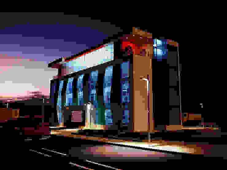 İdari Bina Gece Modern Evler Arslan iç mimarlık Modern