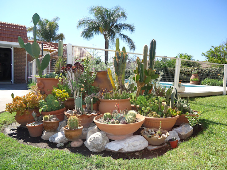 Eclectic style garden by milena oitana Eclectic