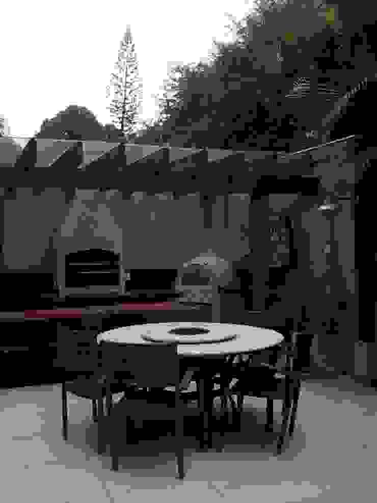 churrasqueira Varandas, alpendres e terraços modernos por Margareth Salles Moderno MDF