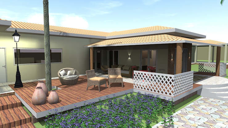 Country style garden by Arquiteto Lucas Lincoln Country