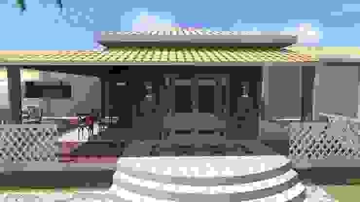 Acesso principal Casas campestres por Arquiteto Lucas Lincoln Campestre