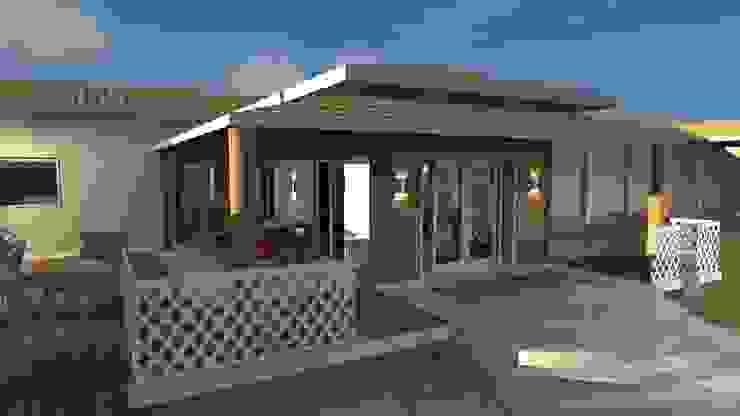 Fachadas Casas campestres por Arquiteto Lucas Lincoln Campestre