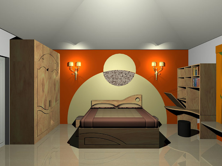 Interior projects Modern style bedroom by VASTHU ARCHITECTS Modern