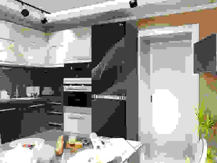 Cocinas de estilo moderno de Первое Дизайн-Бюро Moderno