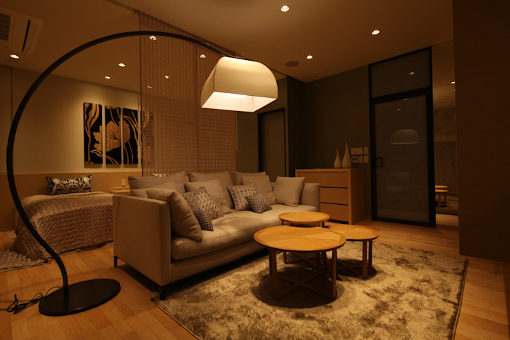 Gest Room 和風デザインの 多目的室 の 株式会社Juju INTERIOR DESIGNS 和風