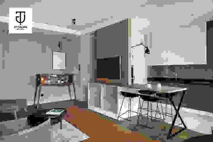 GDAŃSK – Mieszkanie wakacyjne Eklektyczny salon od JT GRUPA Eklektyczny