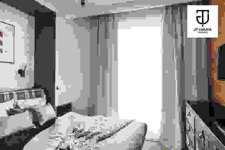 GDAŃSK – Mieszkanie wakacyjne Eklektyczna sypialnia od JT GRUPA Eklektyczny