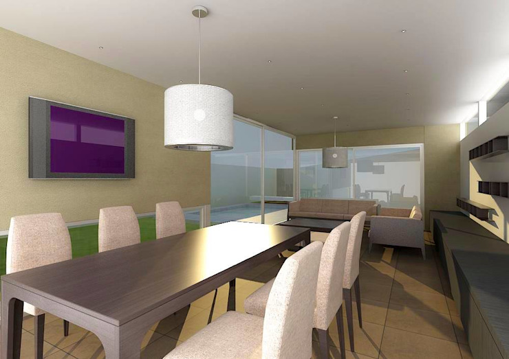 Modern dining room by unoenseis Estudio Modern