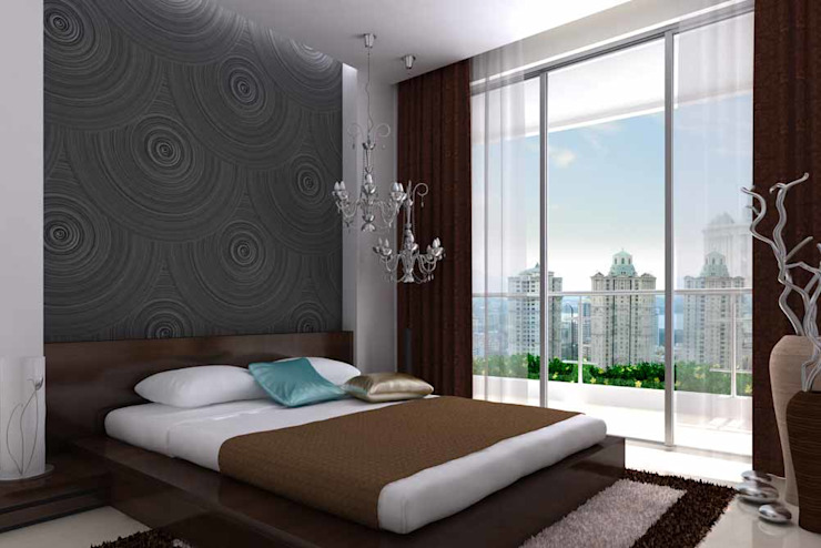 Interior designs Modern style bedroom by Spacious Designs Architects Pvt. Ltd. Modern