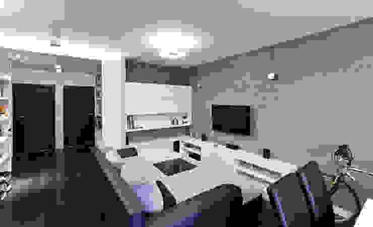 Raw Apartment Minimalistyczny salon od Fotografia Przemysław Turlej Minimalistyczny Beton