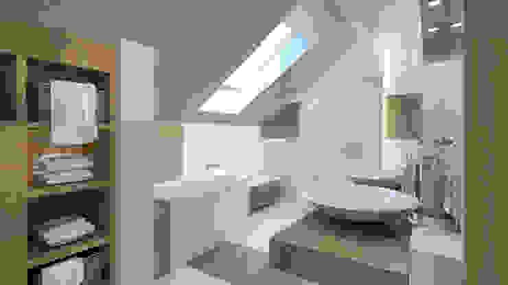łazienka poddasze: styl , w kategorii Łazienka zaprojektowany przez INTUS DeSiGn,Nowoczesny
