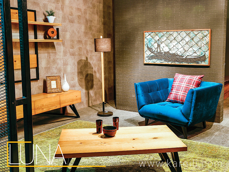 Kargılı Ev Mobilyaları – Luna  coffee table and wall unit.: modern tarz , Modern Ahşap Ahşap rengi