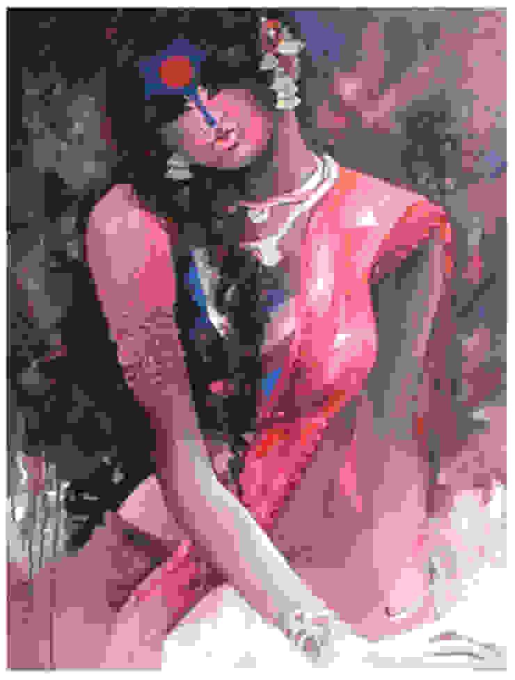 Pink Beauty: asian  by Indian Art Ideas,Asian
