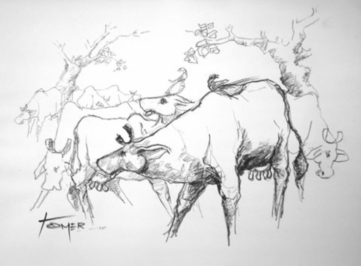 Cow : asian  by Indian Art Ideas,Asian