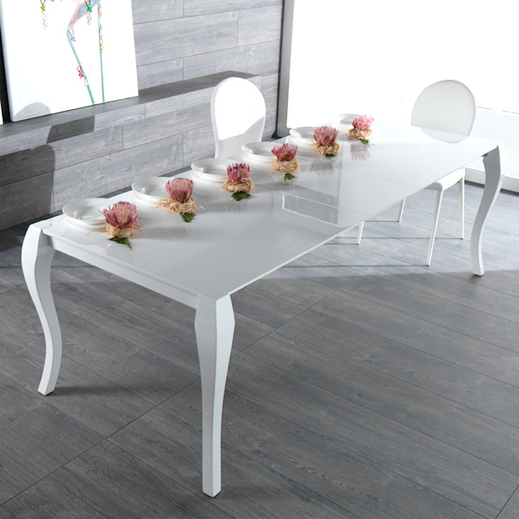 Extendable dining table made of wood Shining Viadurini.co.uk Dining roomTables