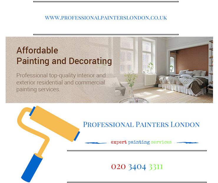 Painters and Decorators London Modern Bedroom by Professional Painters London Modern