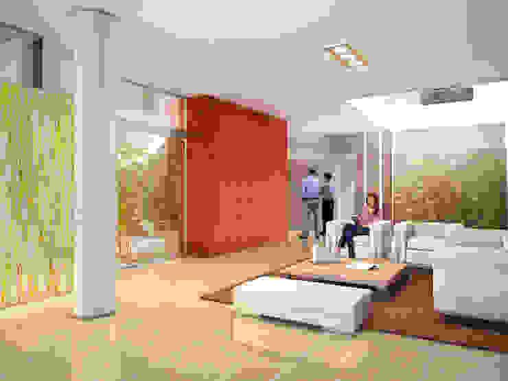 Couloir, entrée, escaliers modernes par Mauricio Morra Arquitectos Moderne