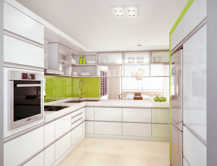 مطبخ تنفيذ Mauricio Morra Arquitectos,
