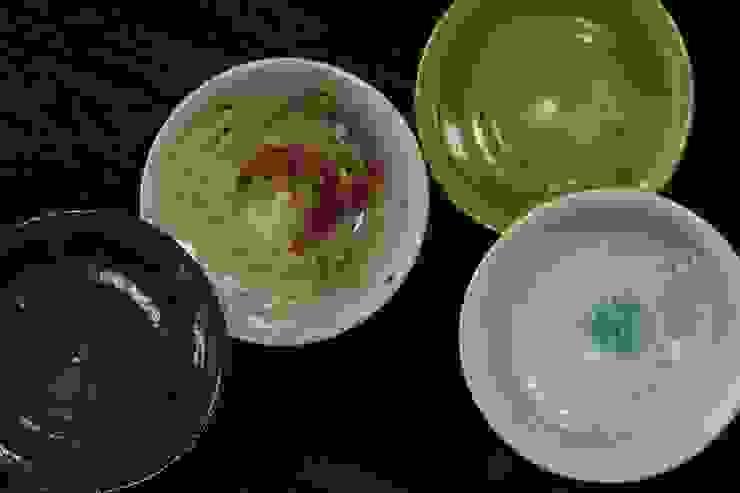 灰釉飯碗: 陶芸工房ゆうゆうが手掛けた折衷的なです。,オリジナル 陶器