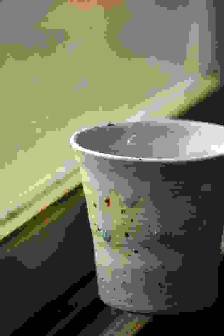 みかん釉薬フリーカップ: 陶芸工房ゆうゆうが手掛けた折衷的なです。,オリジナル 陶器