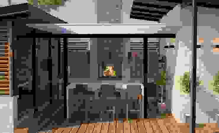 Проект беседки-барбекю Дома в стиле лофт от DS Fresco Лофт