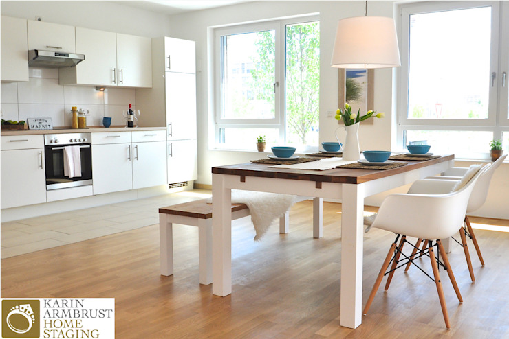 غرفة السفرة تنفيذ Karin Armbrust - Home Staging, كلاسيكي