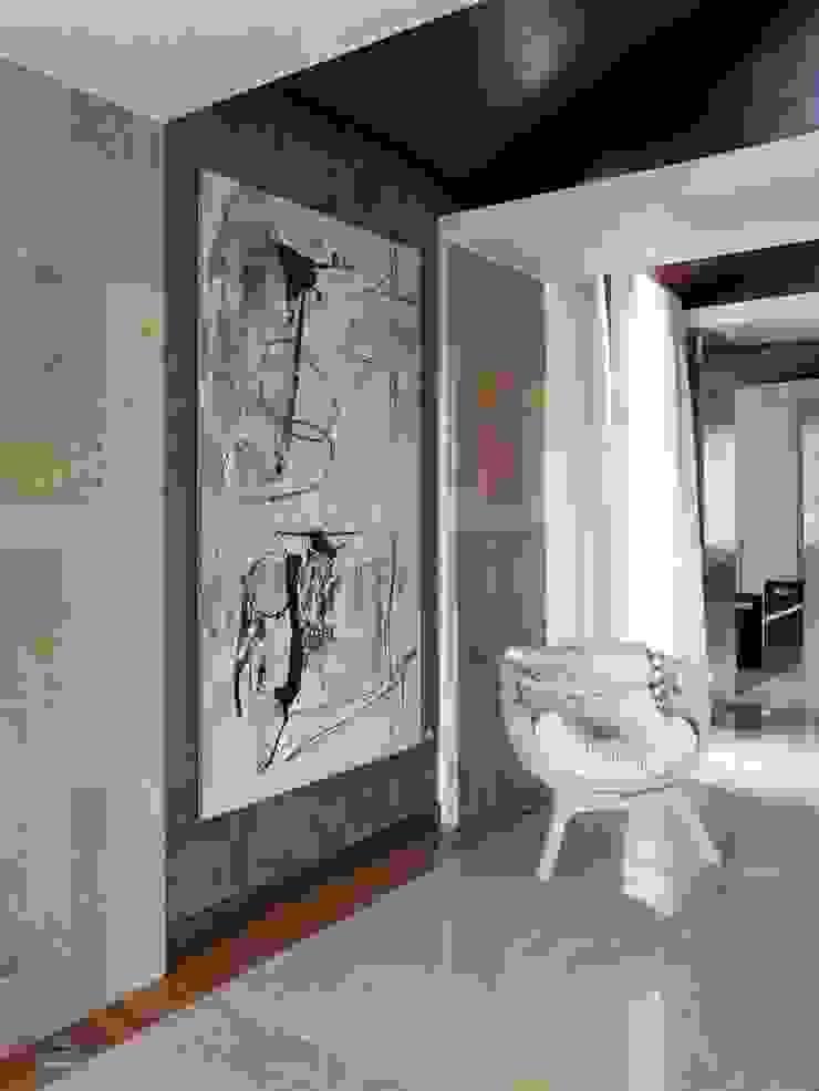 SA&V - SAARANHA&VASCONCELOS Pasillos, vestíbulos y escaleras de estilo minimalista