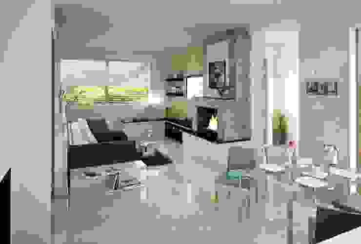 现代客厅設計點子、靈感 & 圖片 根據 AGA Studio 現代風