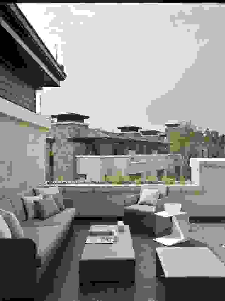SA&V - SAARANHA&VASCONCELOS Balcones y terrazas de estilo ecléctico