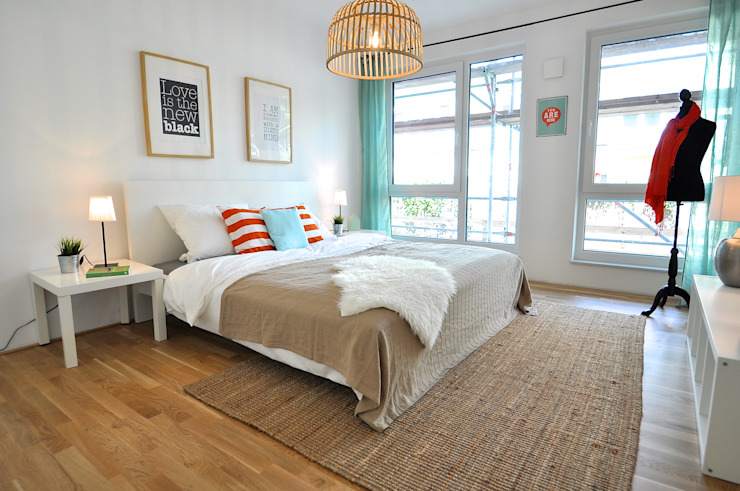 Chambre rurale par Karin Armbrust - Home Staging Rural