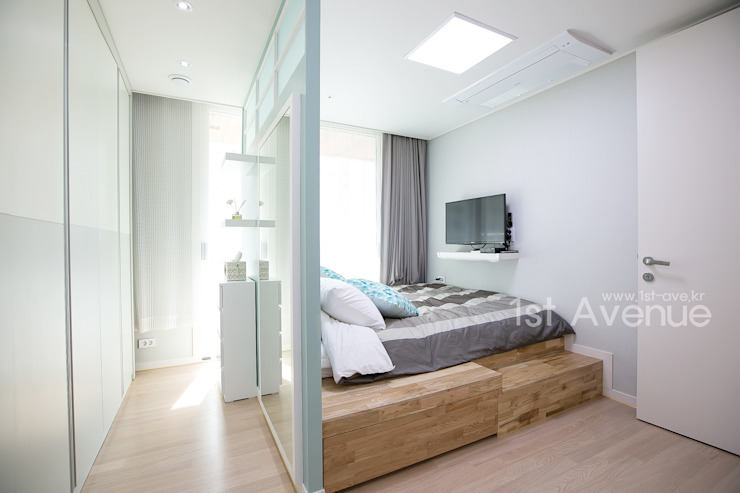 퍼스트애비뉴 Dormitorios de estilo moderno