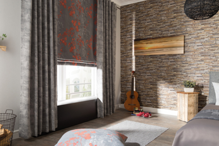 Indes Fuggerhaus Textil GmbH Windows & doors Curtains & drapes Textile Grey