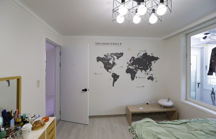 인천 삼산동 산삼타운 21평 스칸디나비아 침실 by 금화 인테리어 북유럽