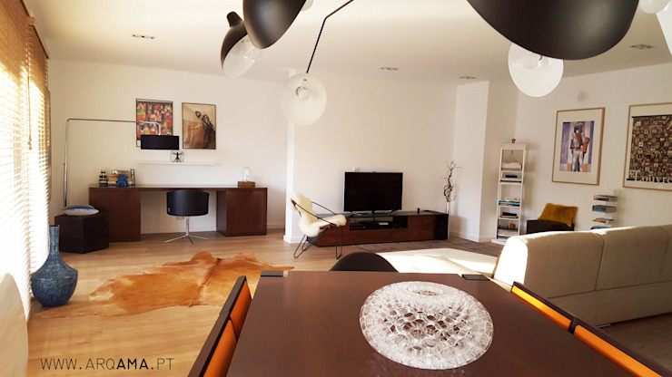 Scandinavian House ARQAMA - Arquitetura e Design Lda Salas de estar escandinavas