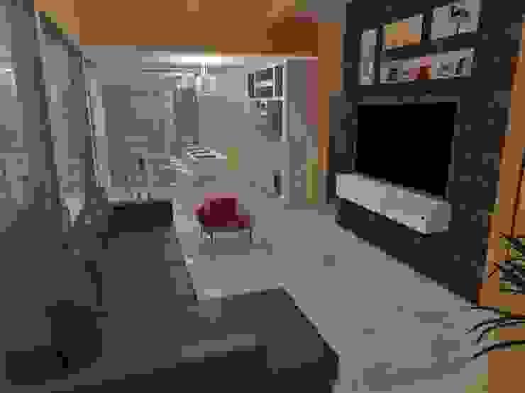 Estar mais quente Salas de estar modernas por Natalia Costa Arquitetura Moderno Mármore