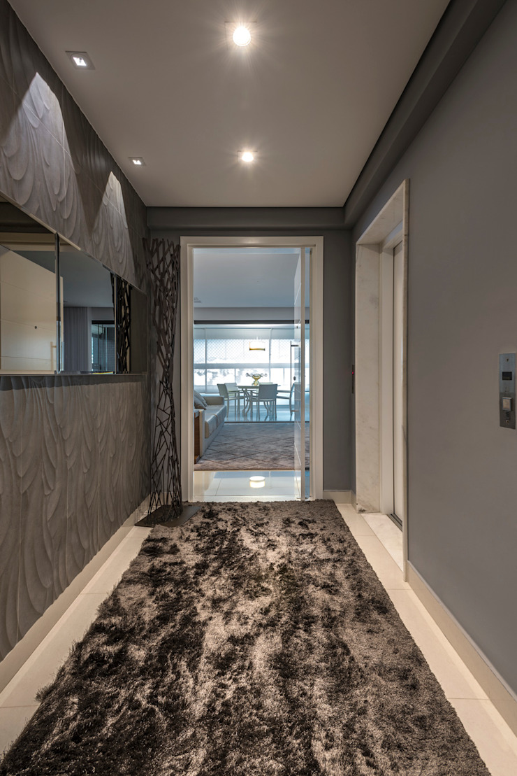 Projeto Apartamento Luxemburgo Corredores, halls e escadas modernos por Laura Santos Design Moderno