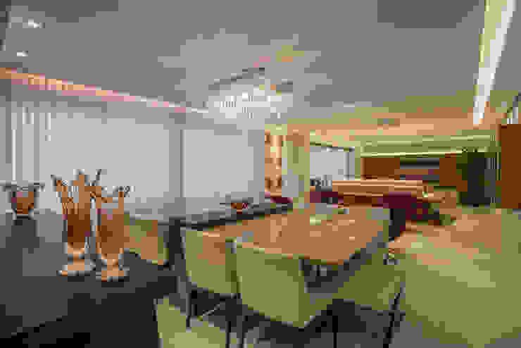 Projeto Apartamento Luxemburgo Salas de jantar modernas por Laura Santos Design Moderno